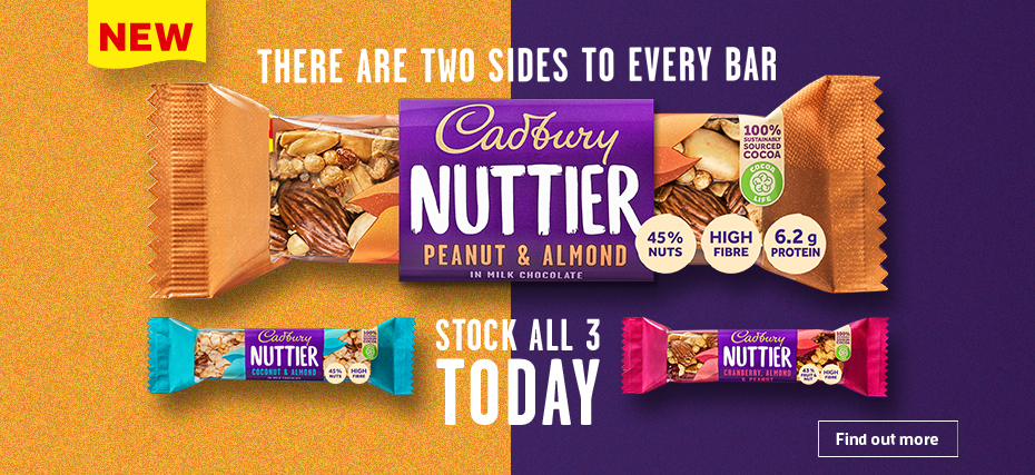 Mondelēz cracks into the 'healthier bars*' market with nutty new launches