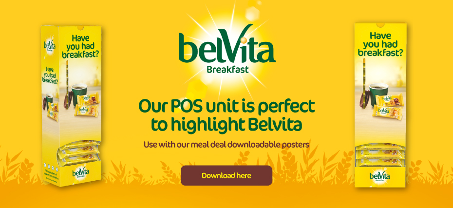 Our POS unit is perfect to highlight Belvita