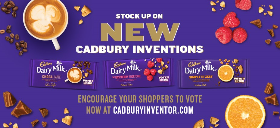Cadbury challenges the nation to vote between three new limited edition Cadbury Dairy Milk bars