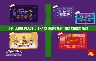 Mondelez new plastic trays