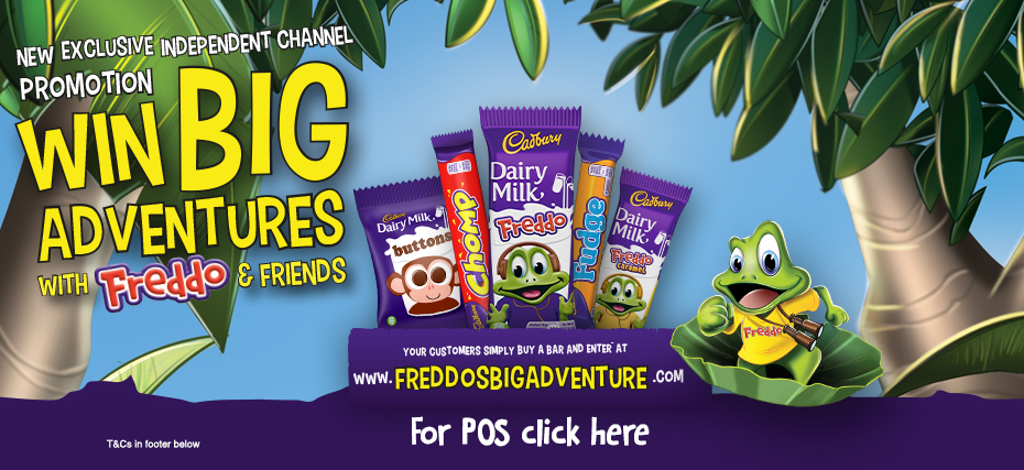 Win big adventures with Freddo and Friends