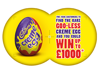 To find the rare goo less creme egg and you could win up to 163 1000