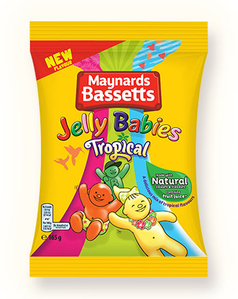 Maynards Bassetts Jelly Babies Tropical pack shot