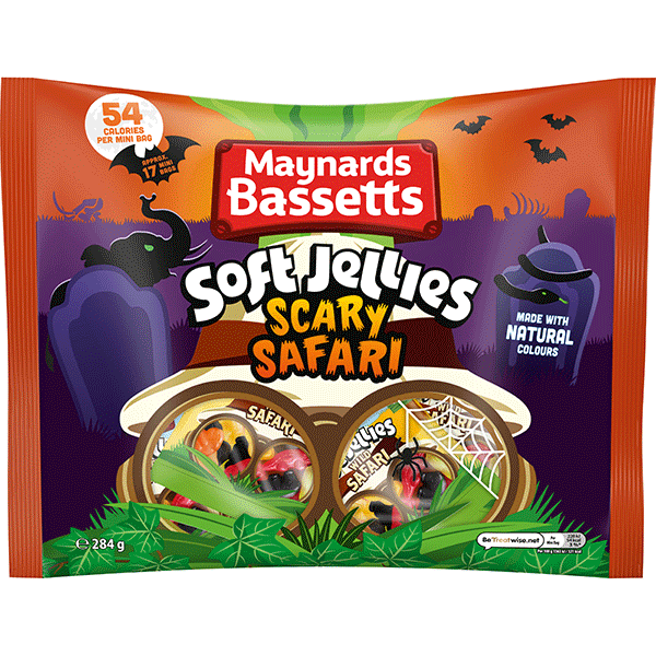 Maynards Bassetts Soft Jellies Scary Safari