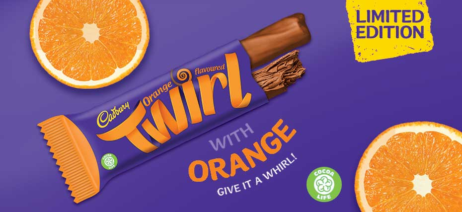Orange Twirl banner