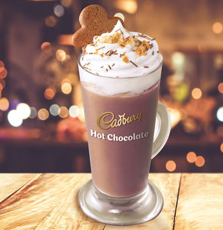 Cadbury seasonal hot chocolate with gingerbread