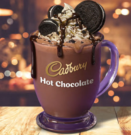 Cadbury Luxury Instant Hot Chocolate with Oreo