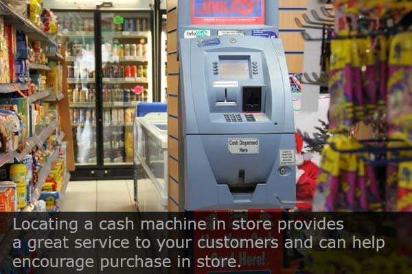 cash machine in store