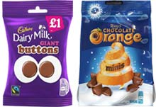 Bags of opportunity - Cadbury Dairy Milk Giant Buttons and Terry's Chocolate Orange Minis