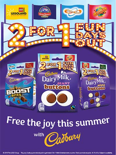 2 for 1 Fun Days Out - Free the Joy this Summer